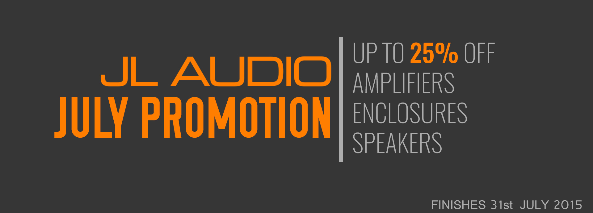 JL Audio July Promotion